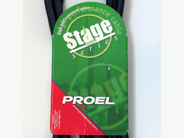 PROEL Balanced Stage Cable 2M Black High-Performance Italian-Made (STAGE204LU2)