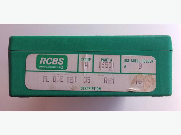 Ammunition reloading dies. RCBS Full Length Die set for .35 Rem