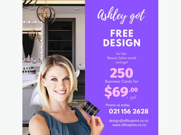 $79 + gst per 500 Business cards