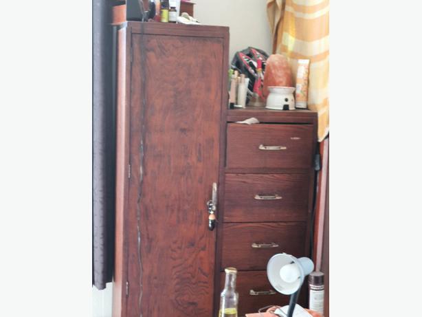 oak wardrobe with 6 draws