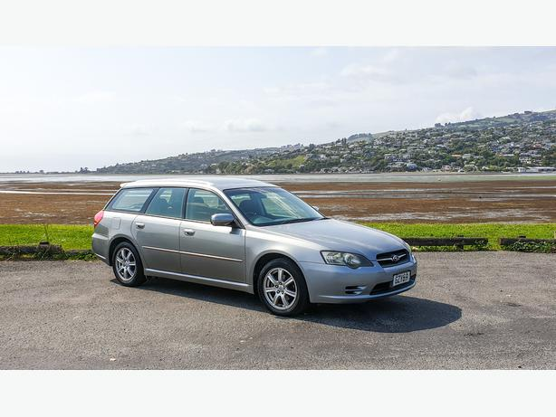 2004 Subaru Legacy with camping set