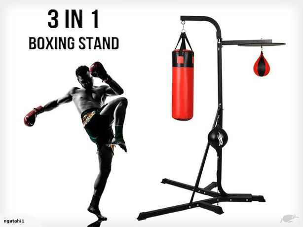 3 IN 1 Multi Station Boxing Stand Punching Bags