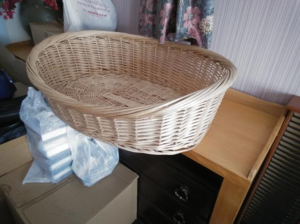 Cane dog basket