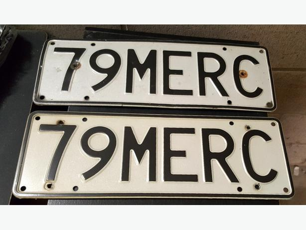 Personalised Plate:  79 MERC