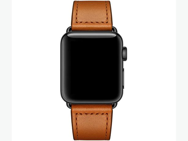 Premium 100% Genuine Leather Band for Apple Watch 42/44mm Brown