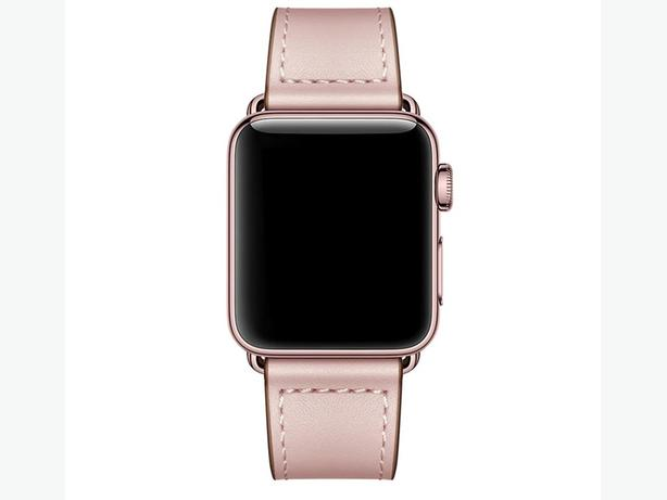 Premium 100% Genuine Leather Band for Apple Watch 38/40mm & 42/44mm Pink
