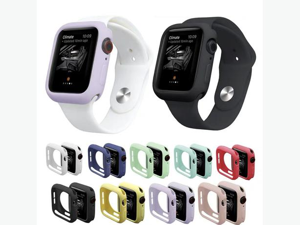 Apple Watch Silicone Bumper Protector Case Cover for All Series and Sizes