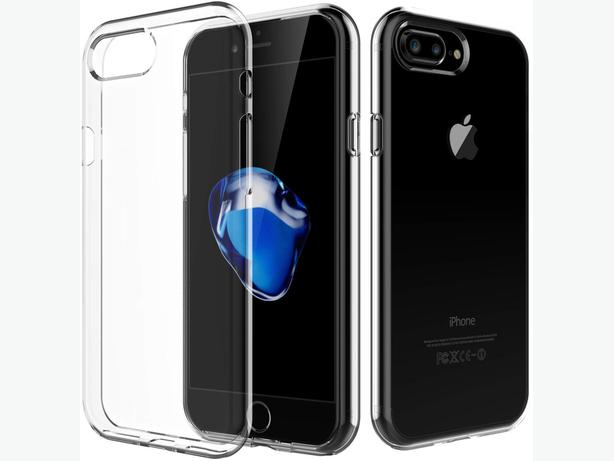 Soft Clear Transparent TPU Case for iPhone 7 Plus and iPhone 8 Plus Back Cover