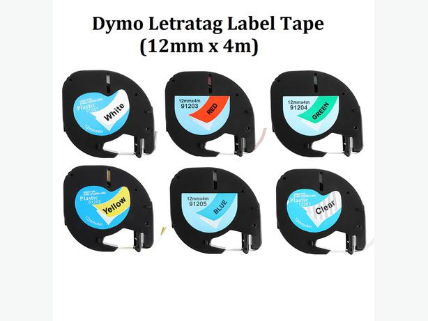 Compatible Dymo LetraTag Labeling Tape Refill 12mmx4m Cassette
