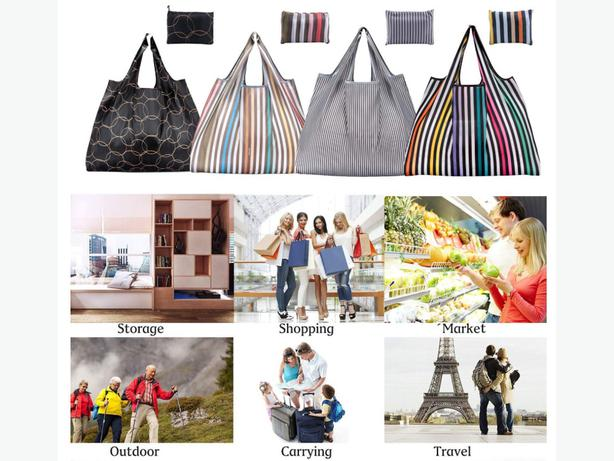 Reusable Eco-Friendly Foldable Grocery Pouch Shopping Bags