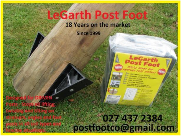 Fence Post Foots x 100. Nails Included / Legarth Post Foots