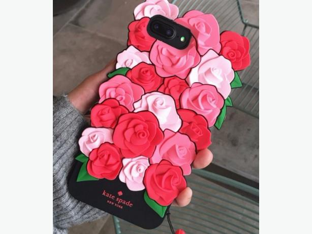 Kate Spade New York Apple iPhone 6/6S Case Silicone Pink Roses