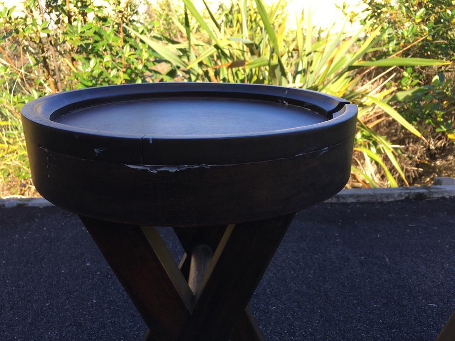 Pair of Teak Lamp/Side Tables Tauranga, www - MOBILE