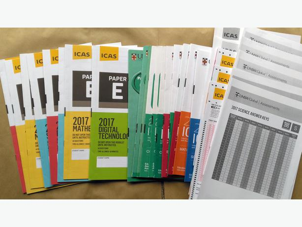 $1 per paper · 54 ICAS E 2009-2018 Papers (with answers, 6 subjects) for Yr 8.