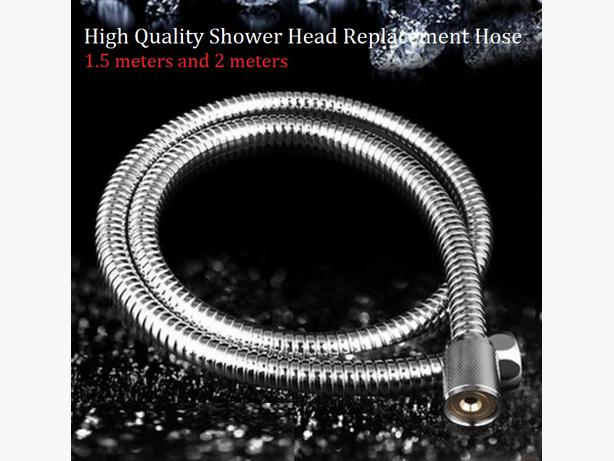 Flexible Stainless Steel Chrome Standard Shower Head Bathroom Hose Pipe