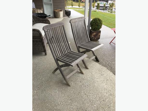 Wooden outside chairs