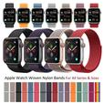 Apple Watch Woven Nylon Fabric Loop Velcro Bands for All Series and Sizes