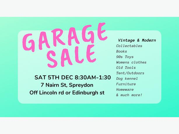 Sat 5th Dec Garage Sale