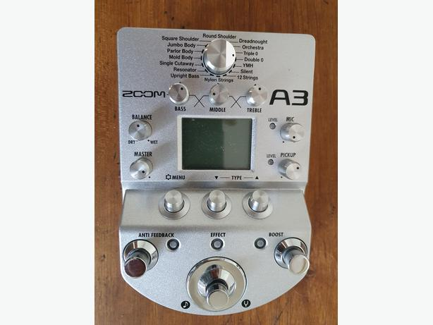 Zoom A3 Acoustic Guitar Multi-Effects Pedal