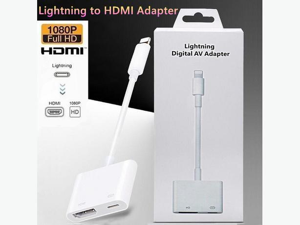 Lightning To Digital AV HDMI Adapter for Apple iPhone iPad and iPod