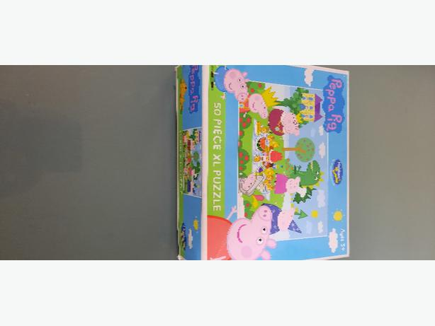 peppa pig 50 piece XL puzzle + fishing game
