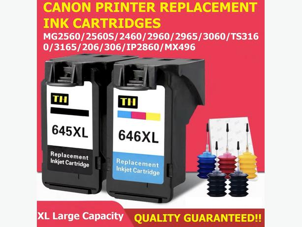 Canon Inkjet Printer Large Capacity Ink Cartridges PG-645XL and CL-646XL