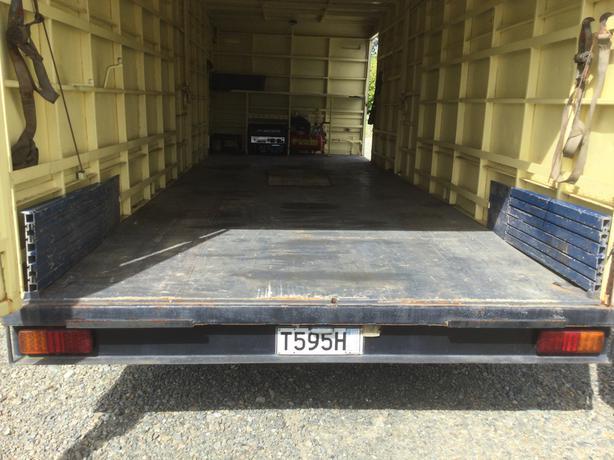 Race car transport trailer