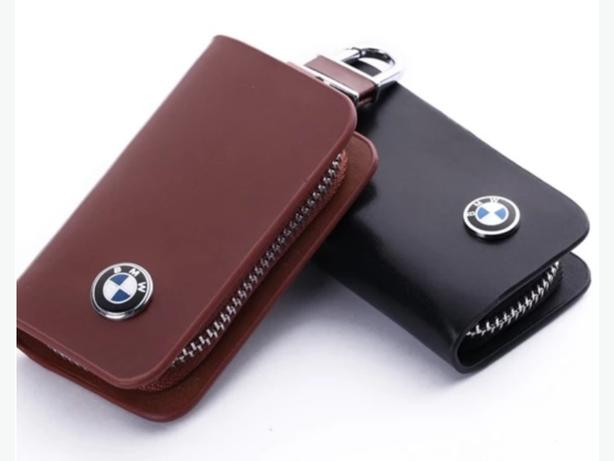BMW Car Remote Key Leather Wallet Pouch Black