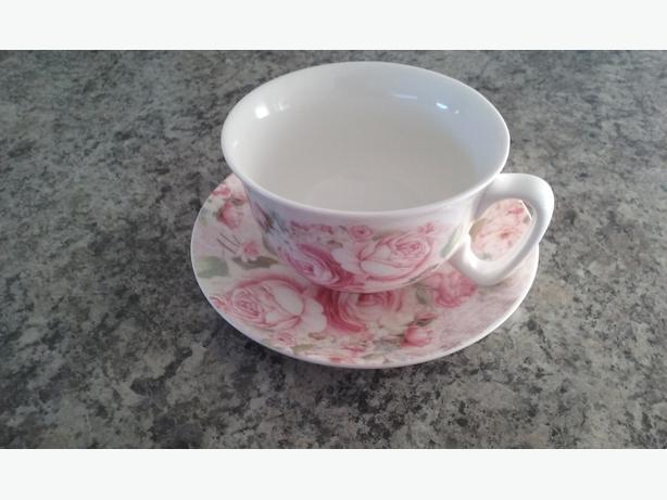 roses cup and saucer set