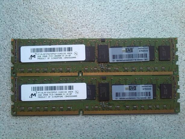 4G (2x2G) PC3-10600 Server memory