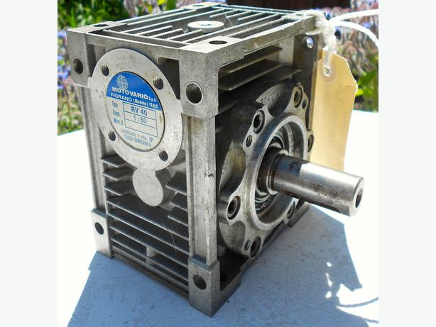 Motovario RV-40 speed reducing gear box.