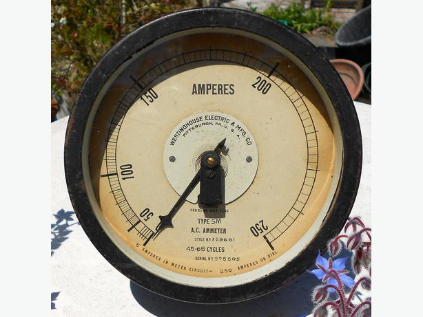 1910 vintage Westinghouse Ammeter