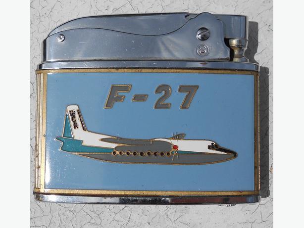 Enamelled Focker F-27 lighter for West Coast Airlines (USA) c1950's.
