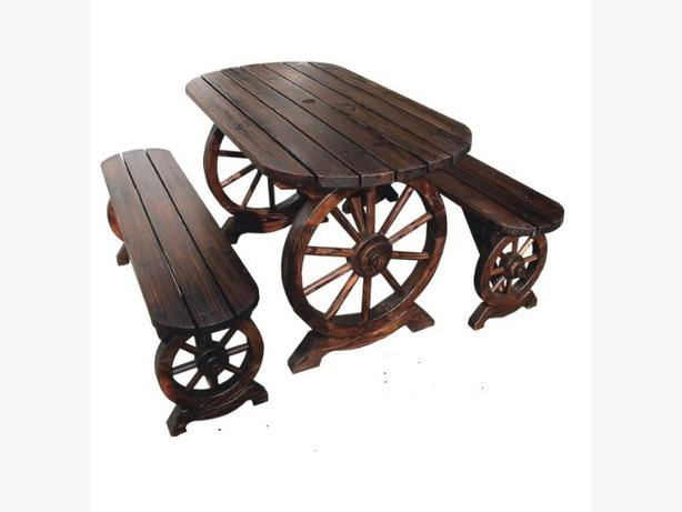 WINTER SALE!!!! Solid Wood Cart Wagon Wheel Garden Set