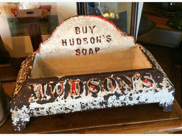Vintage Metal Hudson's Soap Display