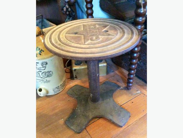 Caltex Branded Cast Iron Table