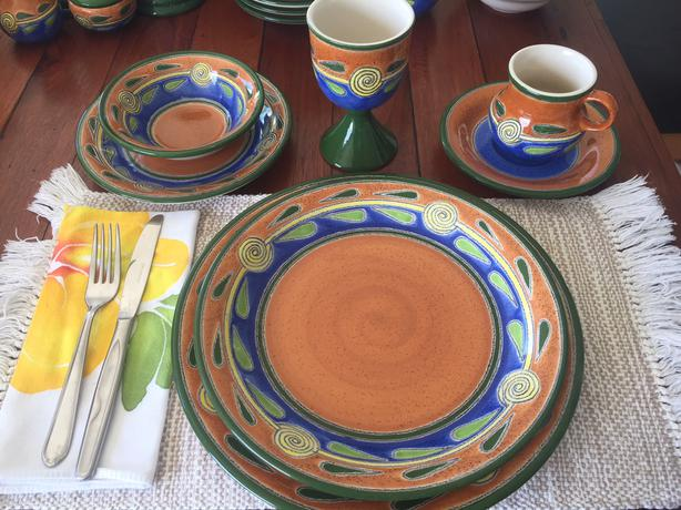 Colourful Dinner Set from Ecuador - Christmas or Hanukah Special : colourful dinnerware - pezcame.com