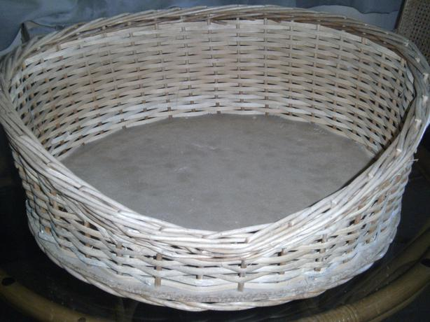 Round Cane Pet Basket