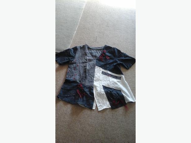 Multi material blouse