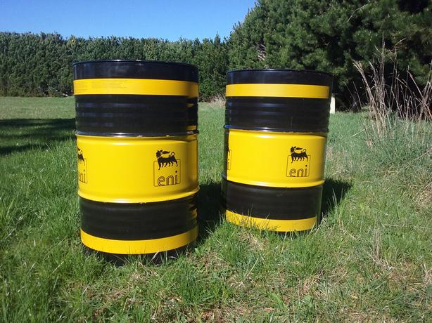 2 empty oil Drums