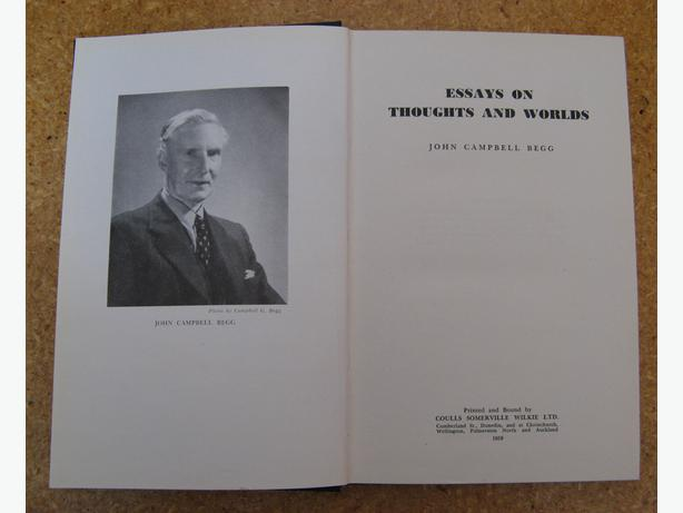 Essays On Thoughts And Worlds, by Jn Campbell Begg 1ST EDN RARE