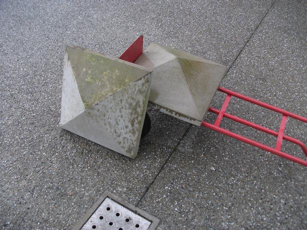 Concrete gate post caps