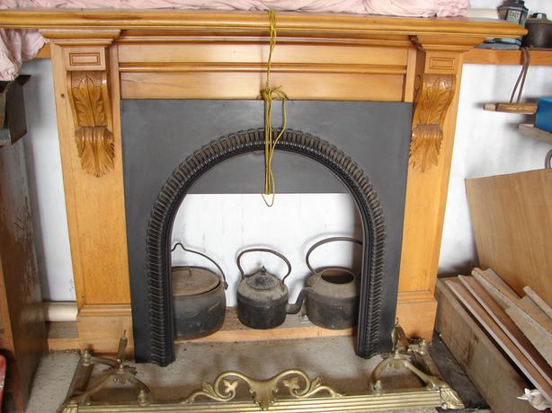 Mantle Piece Fascia and Brass hearth surround