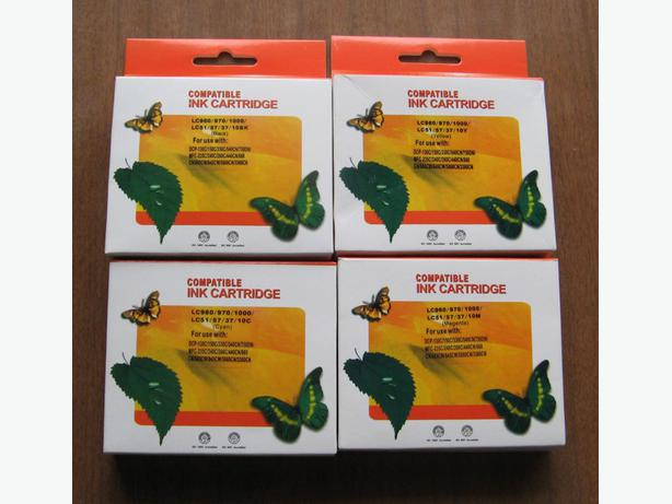 Set of 4 New Compatible Ink cartridges for Brother Printers