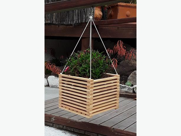 Wooden hanging baskets/planters