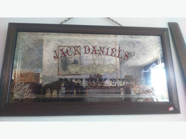 Jack Daniels Tennessee Whiskey Embossed gold and silver Saloon Mirror