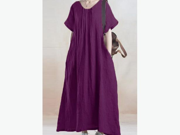 b9eb997b3c70 Purple loose dress with short sleeve sz.20+ Auckland