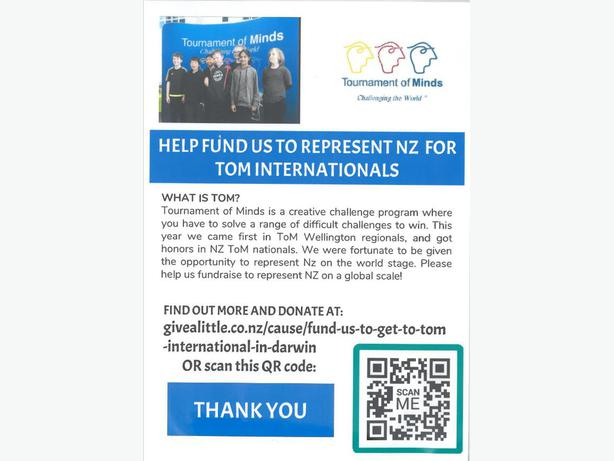 Please support NZ's intermediate school team