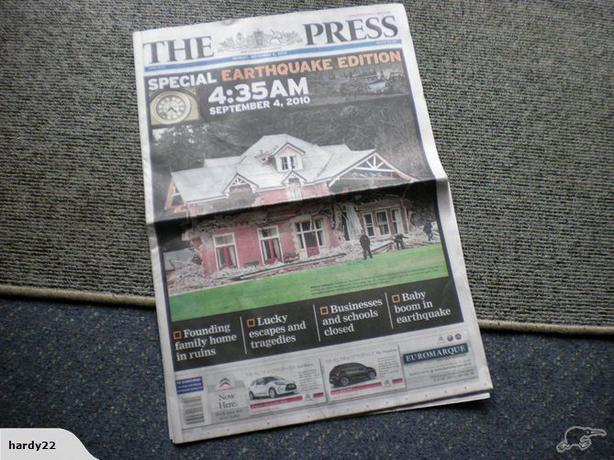 The Press    Monday, September 6, 2010  Special  Earthquake Edition
