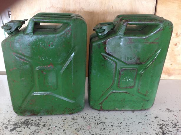 2x Ex Army Jerry Cans